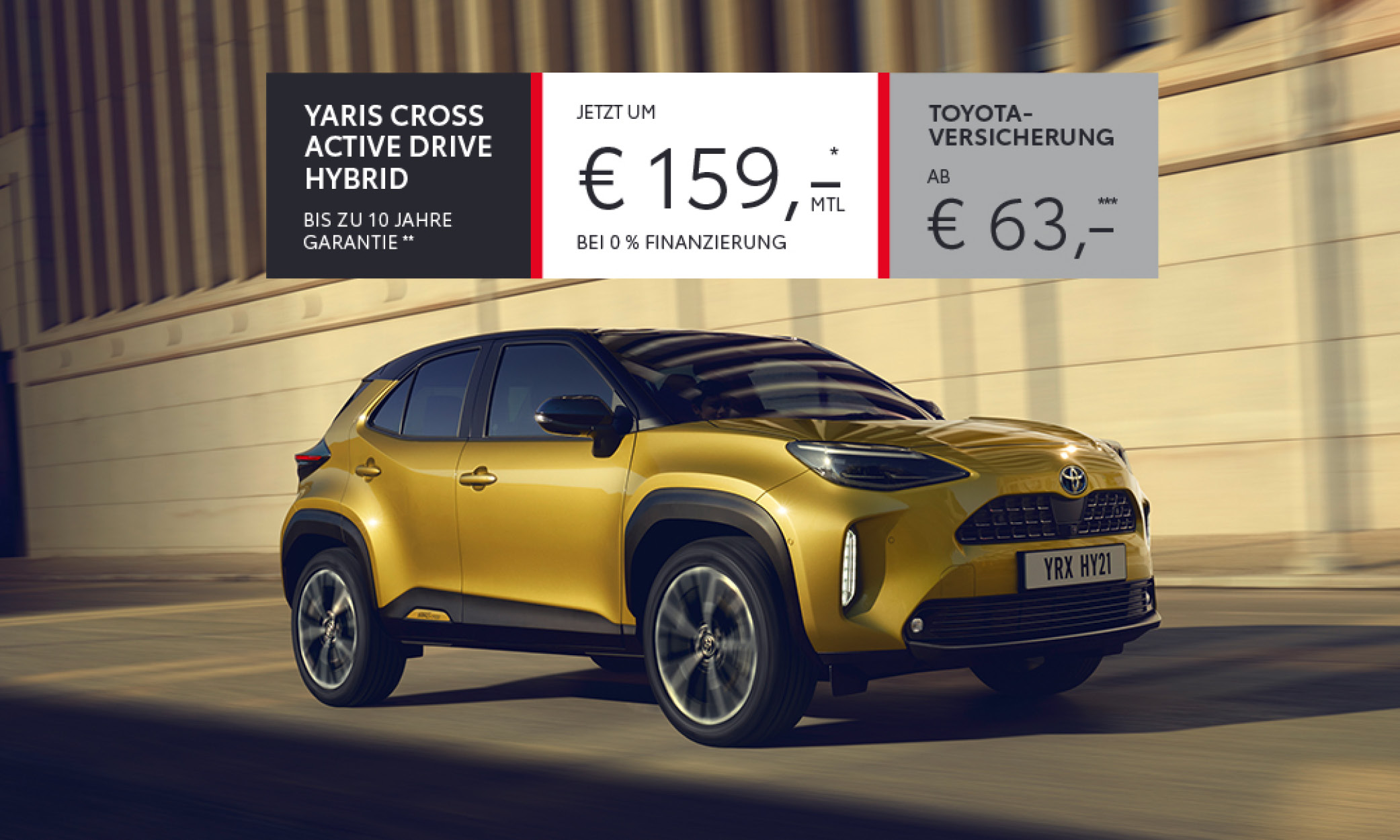 Yaris Cross um €159,- mtl.